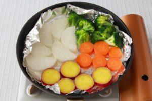 フライパンや鍋で蒸す