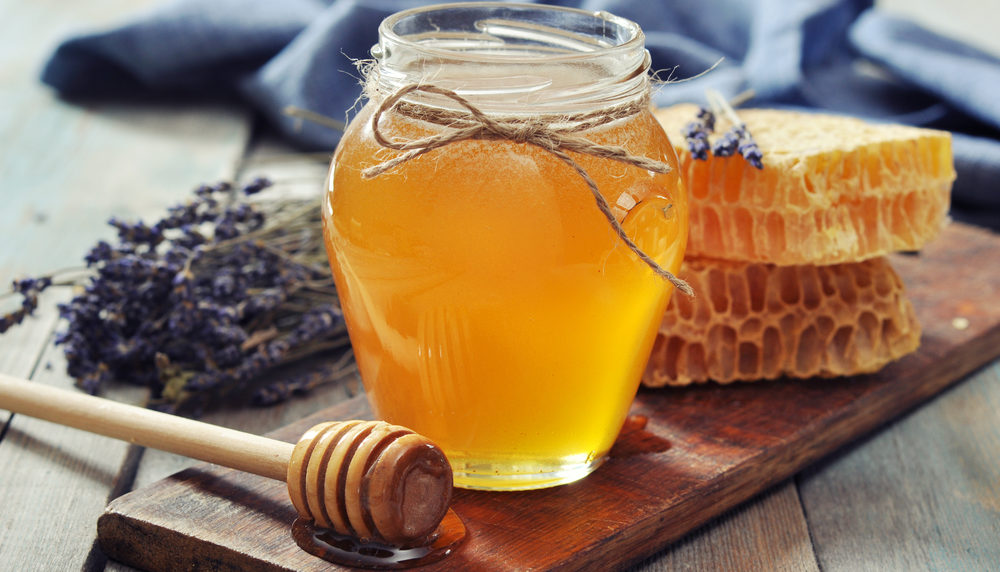 ハチミツをつけて冷凍