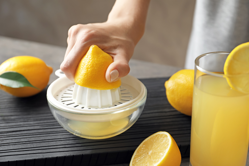 レモン汁をかけて冷凍