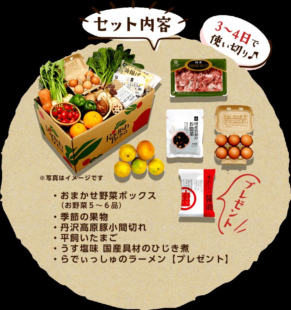 らでぃっしゅぼーや おまかせ野菜ボックス