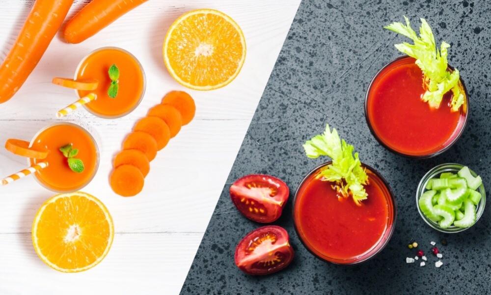 にんじんジュースとトマトジュース、どっちを飲むべき?違いは栄養素にあり