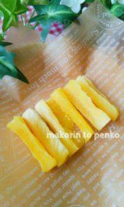 パイナップルの芯利用*芯のドライフルーツ