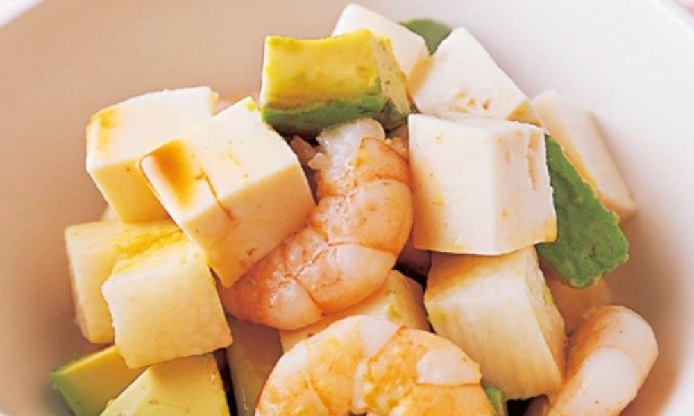 豆腐と山芋、アボカドサラダ