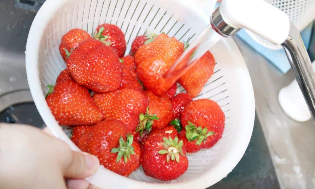 農薬を落とす!いちごをしっかり洗う方法