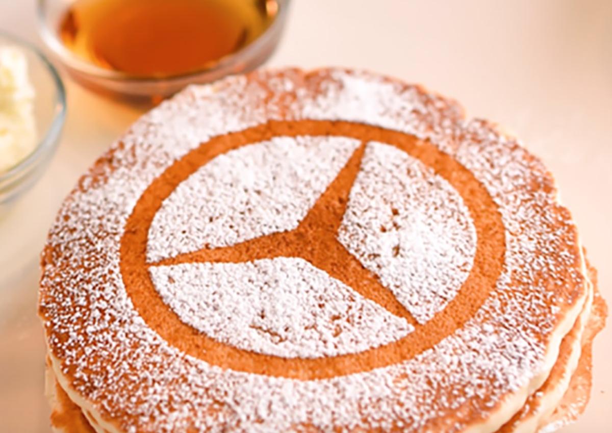 ベンツマークのパンケーキ