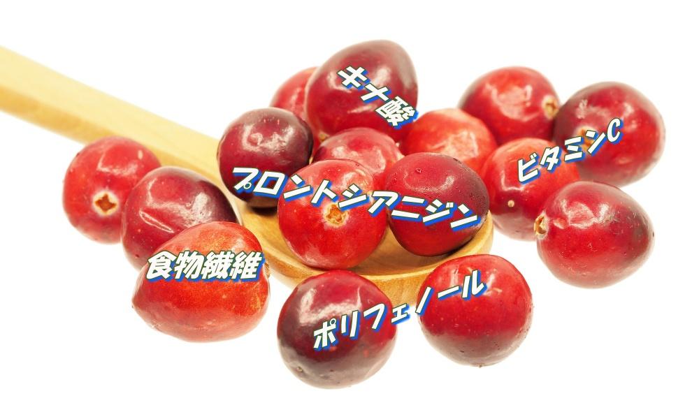 クランベリーのおもな栄養と健康効果
