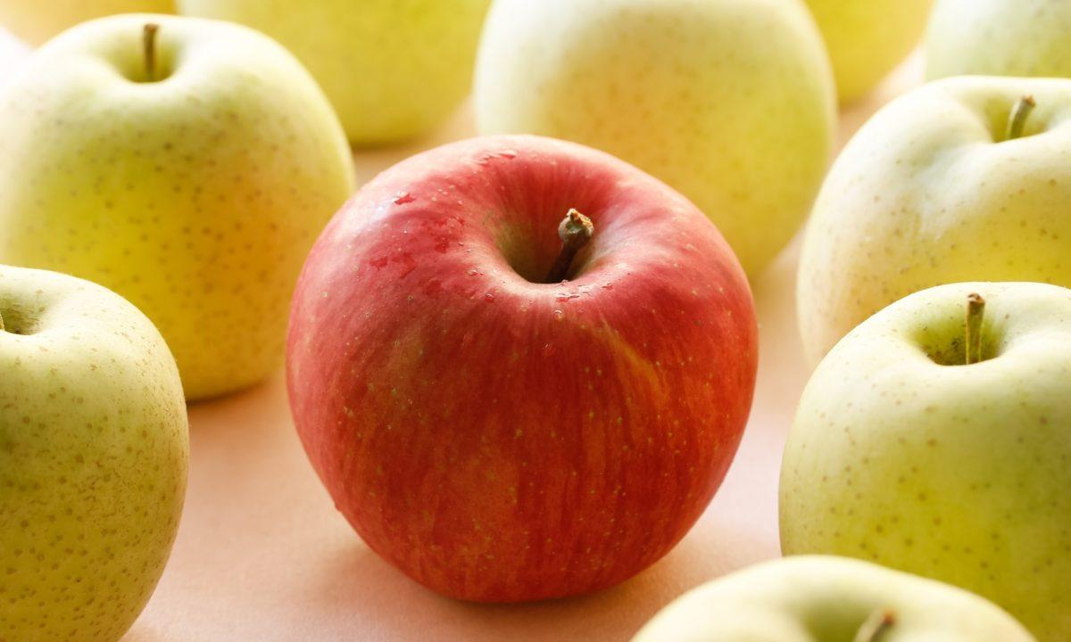 りんごや青りんごの違いって何だろう?赤・青・黄のりんごの色の違いを徹底研究!