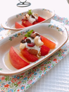 レンジde栄養増♡焼きリンゴヨーグルト添